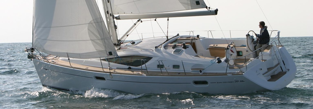View of our fantastic sailboat Jeanneau Sun Odyssey 39 ds, Bombon Tercero